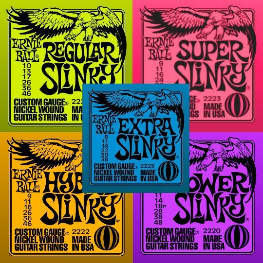 2 FOR £12 <br>Ernie Ball Slinky Electric Guitar Strings