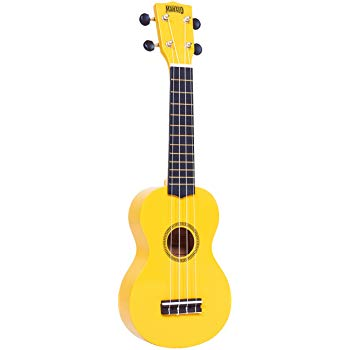 Mahalo Soprano Ukulele inc Aquila Strings - Yellow
