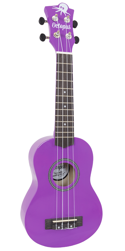 Octopus Soprano Ukulele inc Aquila Strings - Purple