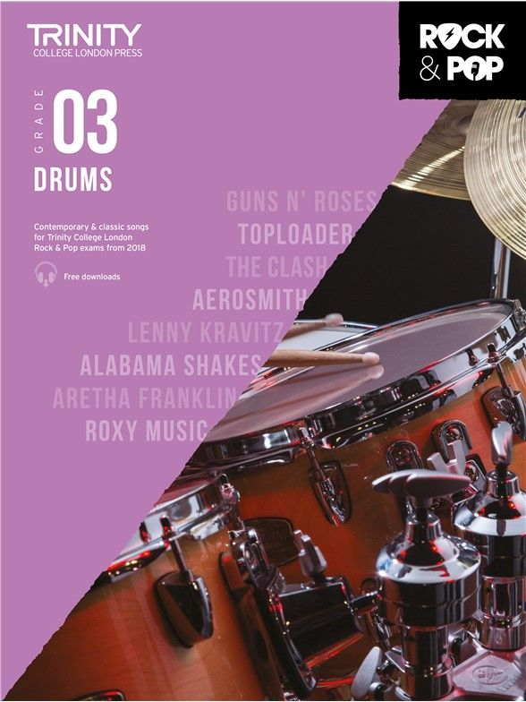 Rock & Pop Drums 2018 Grade 3